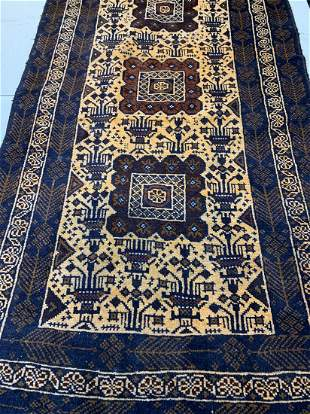 Hand Knotted Persian Shiraz 6.2x3.3 ft