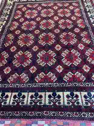 Hand Knotted Persian Turkman6.3x5 ft