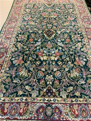 Hand Knotted Indo Tabriz 4.2x6.5 ft