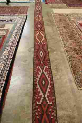 Hand Knotted Persian Yumoud Tent Band 27x1 feet