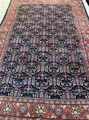 Hand Knotted Persian Tabriz 4x6 ft