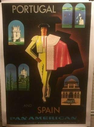 Original Vintage c.1960 Jean Carlu Pan American