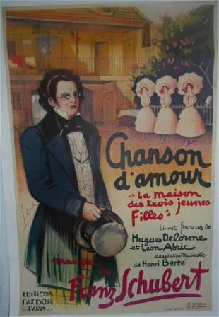 Original Vintage 1936 Chanson d'Amour Operetta Poster