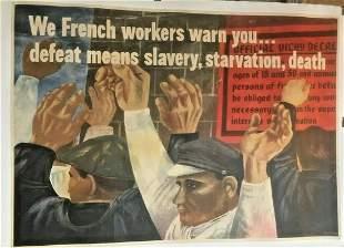 Original Vintage Ben Shahn WWII We French Workers