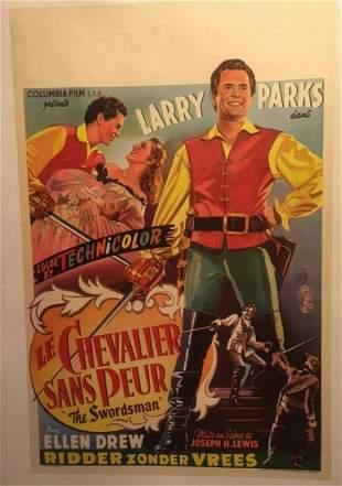 "Original Vintage French Dubbed ""The Swordsman"" Poster"