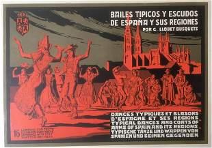 Original Vintage c.1940 Spanish Tipicos Bailes Dance