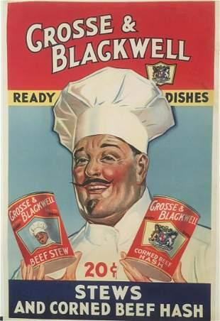 Original Vintage c.1940 Crosse & Blackwell Poster Linen