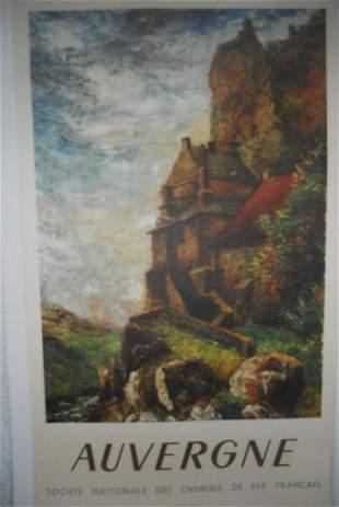 Original Vintage 1947 Auvergne FrenchTravel Poster