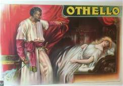 Original Vintage English Othello Opera Poster Linen