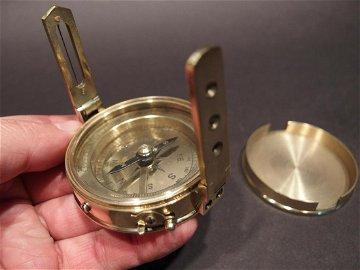Brass Encampment & Fortification Surveyors Compass