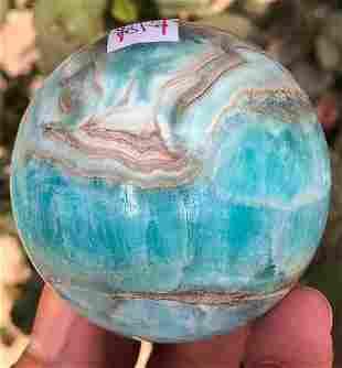 325 Grams Beautiful Blue Aragonite Sphere