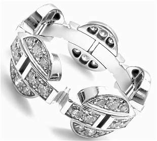 CARTIER Himalia 18k White Gold Diamond Band Ring Size