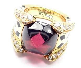 Cartier Panthere 18k Yellow Gold Diamond Rhodolite