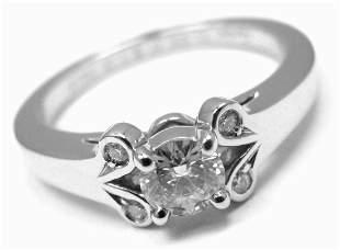 Cartier Ballerine Platinum .24ct Diamond Engagement
