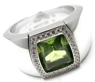 Cartier La Dona 18k White Gold Peridot Diamond Band
