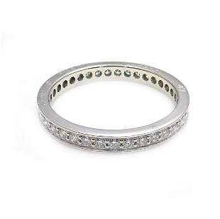 Cartier Platinum Diamond 0.70ctw Eternity Band Ring Sz