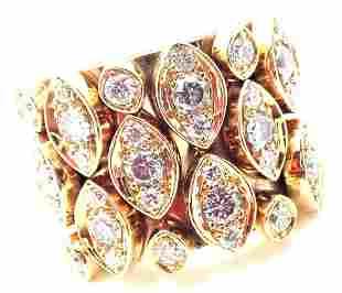 Cartier Diadea 18k Yellow Gold Mobile Diamond Ring Size