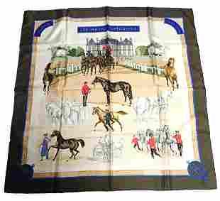 Hermes Carre Les Haras Nationaux Vintage 90cm Silk