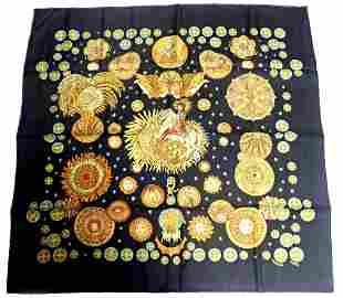 Hermes Carre Le Roy Soleil The Sun King Vintage 90cm