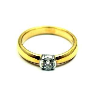 Tiffany & Co. 18k + Platinum 0.33ct Diamond I/VS1