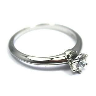 Tiffany & Co. Platinum 0.39ct Diamond F/VS1 Engagement