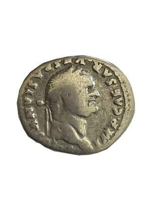 Roman Empire. Vespasian, denarius 77/78 C.E.
