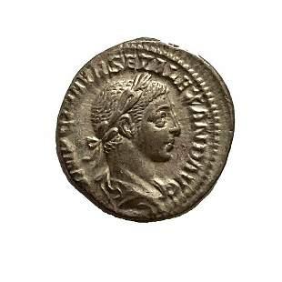 Roman Empire, Severus Alexander, Denarius. 223 C.E.