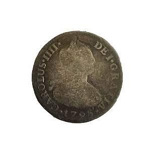 Spanish Empire. Peru. 2 reales 1795 IJ