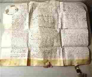 659 English Vellum Deed London Property