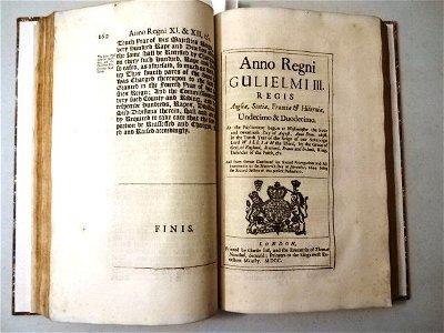1700 Volume of English Acts Pirates Vagabonds