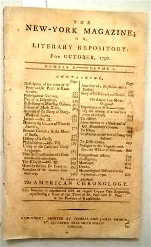 1790 New York Magazine Constitution