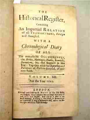 1727 Historical Register Seige of Gibraltar