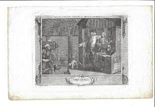 c1820 Hogarth Engraving Industrious Prentice