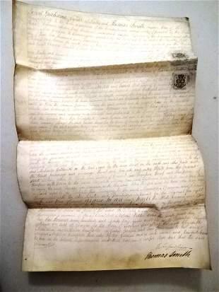 1800 Scotland Manuscript Legal Vellum
