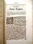 1708 English Act for Raising Militia Queen Anne