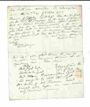 1752 English Manuscript South Seas Annuities