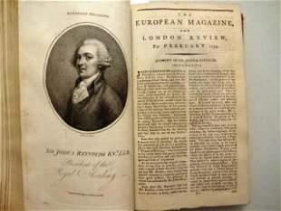 1794 European Magazine Engravings George Washington