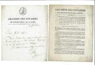 1803 French Republic Seine Documents