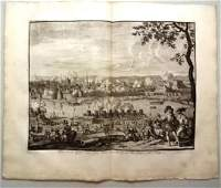 1730 Engraving of a Battle Prince of Parma