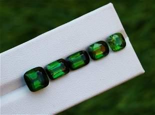 Natural & Unheated~ Green Chrom Tourmaline Gemstone Lot