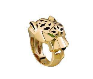 This iconic panthere ring is an exemplary
