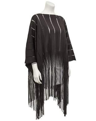 Yves Saint Laurent Brown Knit Poncho