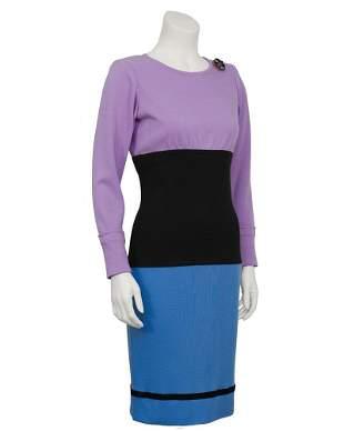 Yves Saint Laurent Colorblock Day Dress