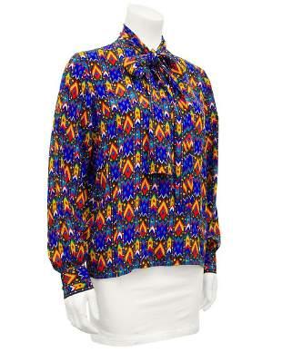 Yves Saint Laurent Blue Navajo Print Shirt