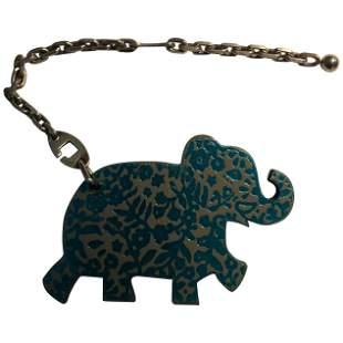 Hermes Limited Edition Leather Haati Elephant Bag Charm