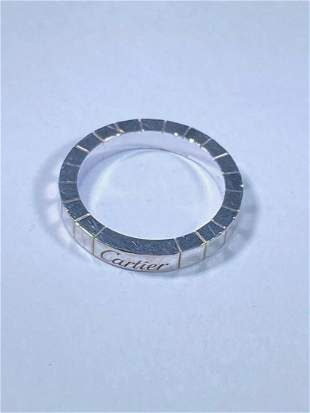 Cartier Maillon Panthere 18k White Gold 1 Row Band Ring