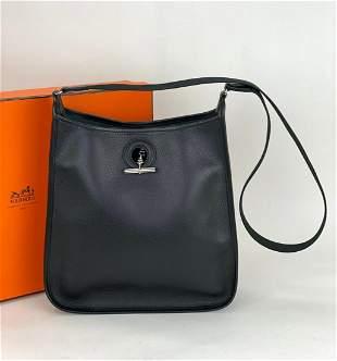 Hermès Vespa TPM black Leather Epsom Shoulder Bag