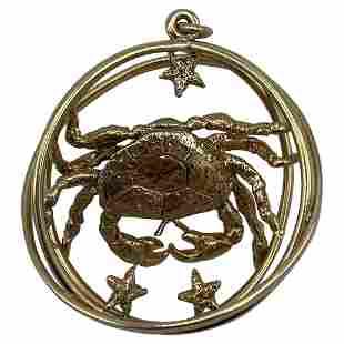 Retro William Ruser Rose Gold Astrological Zodiac Sign