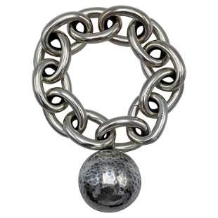 Bottega Veneta Sterling Silver Link Chain Bracelet