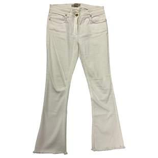 Etro White Denim Jeans, Size 29